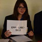 Stefanie Herman (Q11) gehörte der Europäischen Volkspartei (European People's Party) an und vertrat die Slowakei