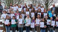 """Es ist schon seit Jahren Tradition, dass sich Elly- Heuss- Mädchen mit rekordverdächtigen Teilnehmerzahlen am naturwissenschaftlichen Landeswettbewerb """"Experimente antworten"""" beteiligen. Drei interessante Versuchsrunden gilt es übers Schuljahr verteilt zu meistern. 40 Schülerinnen der Unter- und..."""