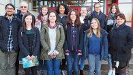 """Zum 2.Mal besuchte eine Delegation (4 Oberstufenschülerinnen + begleitende Lehrkraft) der """"King Edward VI Camphill School for Girls"""" in Birmingham das Elly-Heuss-Gymnasium. Die Gäste nahmen am Unterricht einer Oberstufenklasse teil und konnten Regensburg und Nürnberg..."""